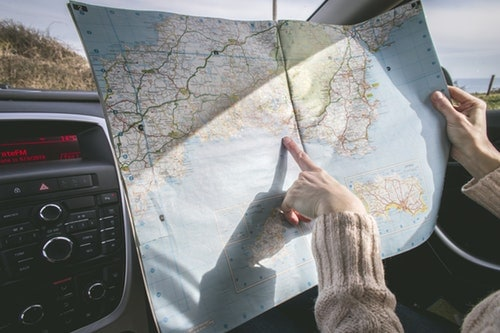 Getting Directions with a Map