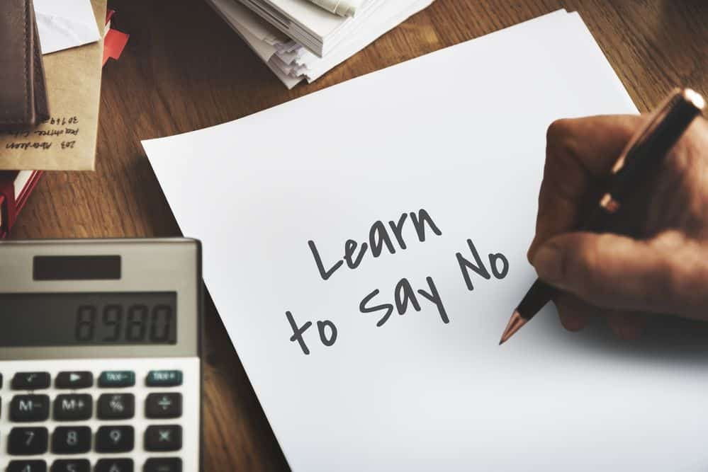Save Money by Saying No